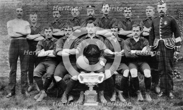 Football team of the 1st Royal Scots (Lothian Regiment), 1896. Artist: Unknown