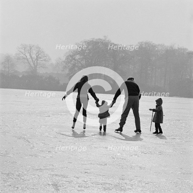 Skating in Richmond Park, London, 1962-1964. Artist: John Gay