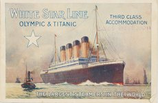 Thumbnail image of White Star Line. Titanic & Olympic, c. 1910. Artist: Anonymous