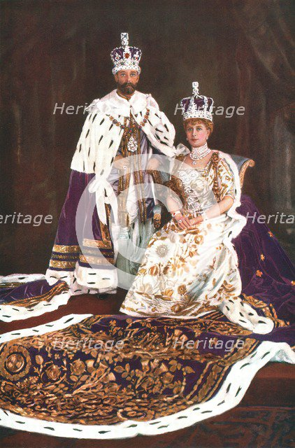 King George V and Queen Mary, 1911. Artist: W&D Downey.