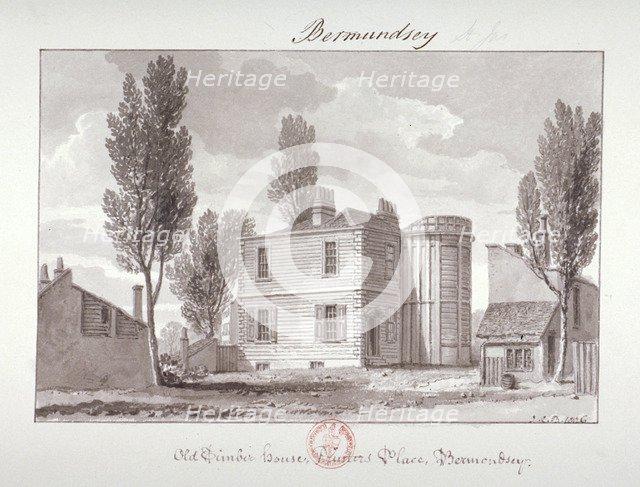 'Old Printers House, Printers Place, Bermondsey', London, 1826. Artist: John Chessell Buckler