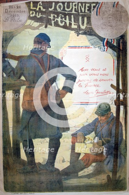 'Journée du Poilu 25 et 26 Décembre 1915', French World War I poster, 1915. Artist: Unknown