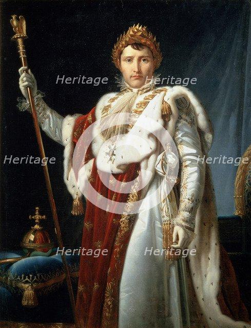 'Portrait of Emperor Napoléon I Bonaparte', c1804. Artist: Francois Pascal Simon Gerard