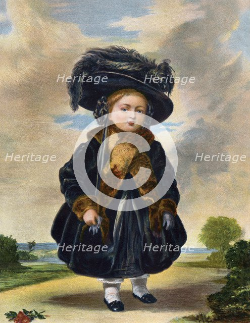 Queen Victoria (1819-1901) aged four years old, 19th century.Artist: Eyre & Spottiswoode