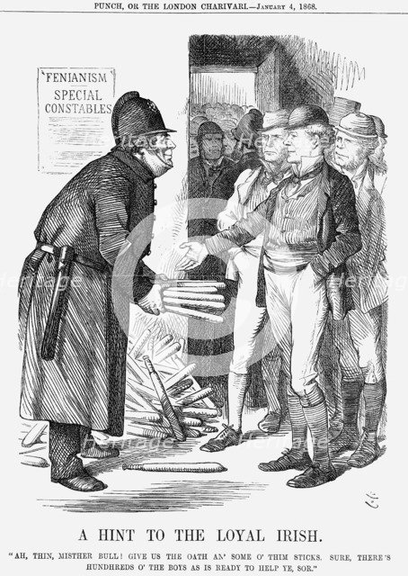 'A Hint to The Loyal Irish', 1868. Artist: John Tenniel