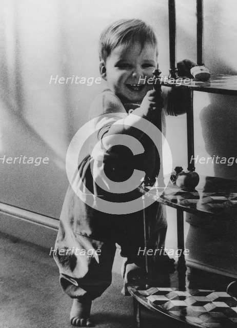 Viscount Linley on his first birthday, 1962. Artist: Unknown