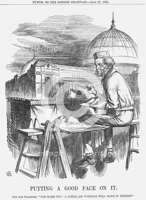 'Putting a Good Face On It', 1863. Artist: John Tenniel