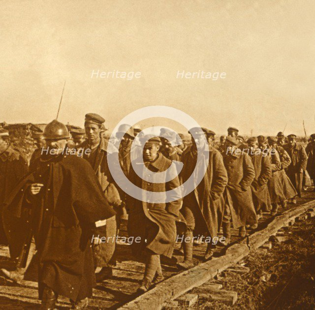 Prisoners of war, c1914-c1918. Artist: Unknown.