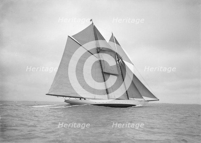 The beautiful schooner 'Meteor IV', 1911. Creator: Kirk & Sons of Cowes.
