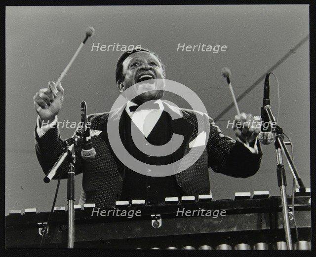 Lionel Hampton on the vibraphone, Knebworth, Hertfordshire, July 1982. Artist: Denis Williams