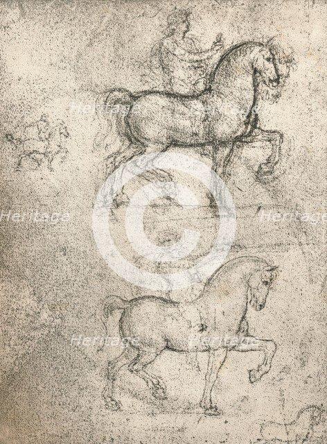 Study for the Sforza Monument, c1482-c1499 (1883). Artist: Leonardo da Vinci.