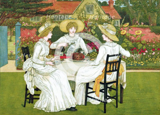 Afternoon Tea, 1886. Artist: Unknown
