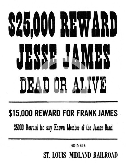 Wanted poster, c1868-1882 (1954). Artist: Unknown