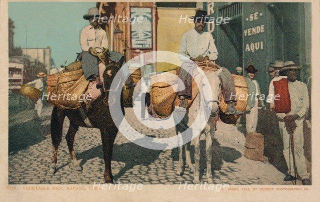 'Vegetable Men, Havana, Cuba', 1904. Artist: Unknown.