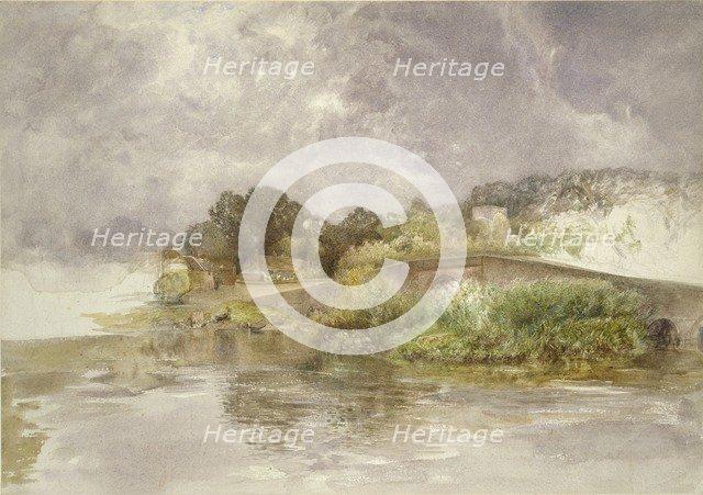 Sonning Bridge, c1882. Artist: Alfred William Hunt.