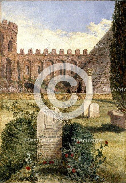 Keats's Grave, 1873. Artist: William Bell Scott.