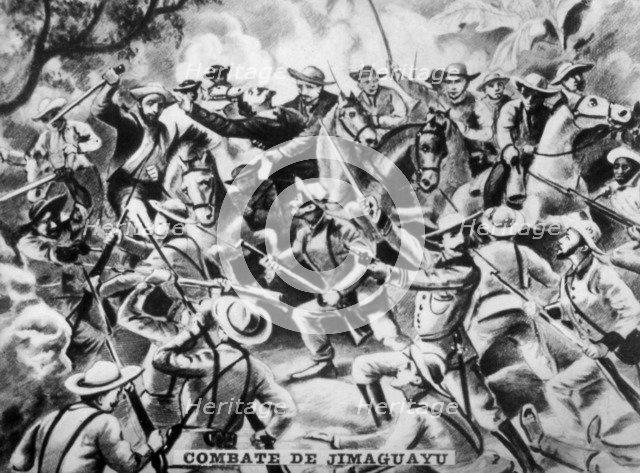 Battle of Jimaguaya, (1873), 1920s. Artist: Unknown