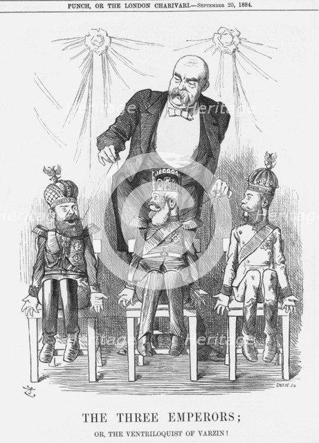'The Three Emperors', 1884. Artist: Joseph Swain