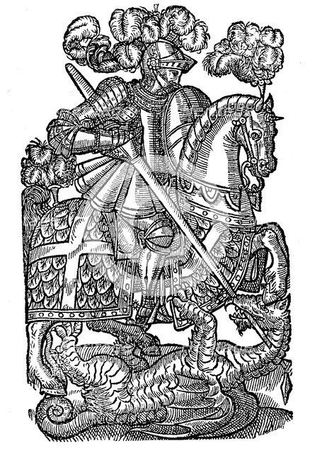 St George killing the dragon, 1598. Artist: Unknown