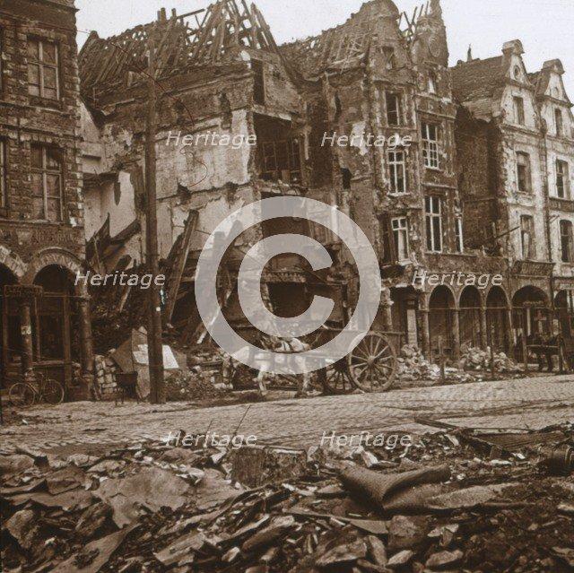 La Petite Place, Arras, northern France, c1914-c1918. Artist: Unknown.