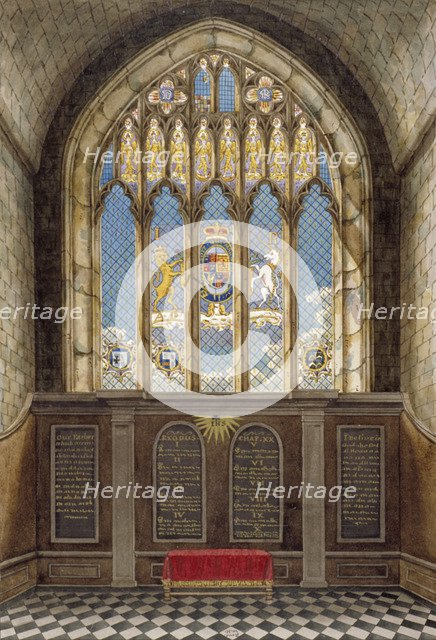 Interior of the Church of St George, Hanworth, Middlesex, 1801. Artist: Anon