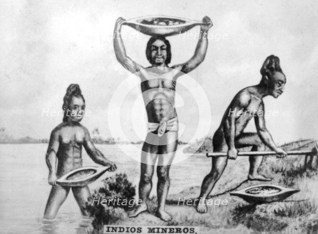Indian Miners in Cuba, 1920s Artist: Unknown