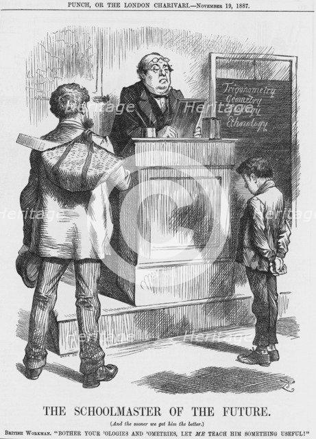 'The Schoolmaster of the Future', 1887. Artist: Joseph Swain