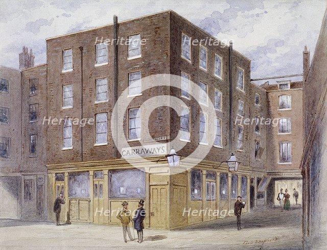 Change Alley, London, 1873. Artist: Frederick Napoleon Shepherd