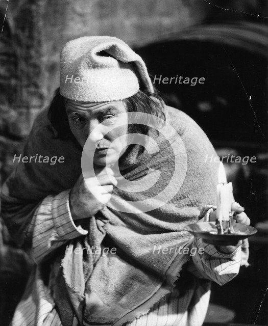 Albert Finney (1936- ), British actor, playing the role of Scrooge, 1970. Artist: Unknown