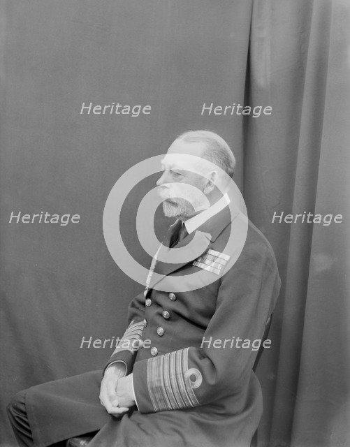 Studio portrait of George V taken aboard 'HMY Victoria and Albert', c1935. Creator: Kirk & Sons of Cowes.