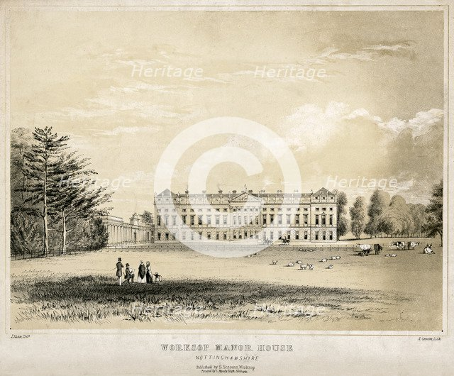 Worksop Manor, Nottinghamshire, c1850. Artist: Unknown