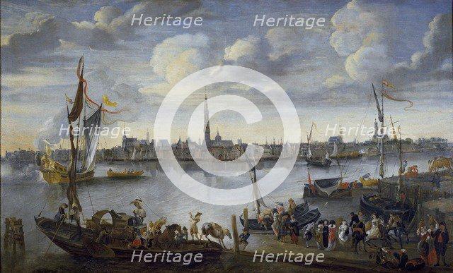 View of the Roads of Antwerp from the West Bank, post 1672. Artist: Hendrick van Minderhout.