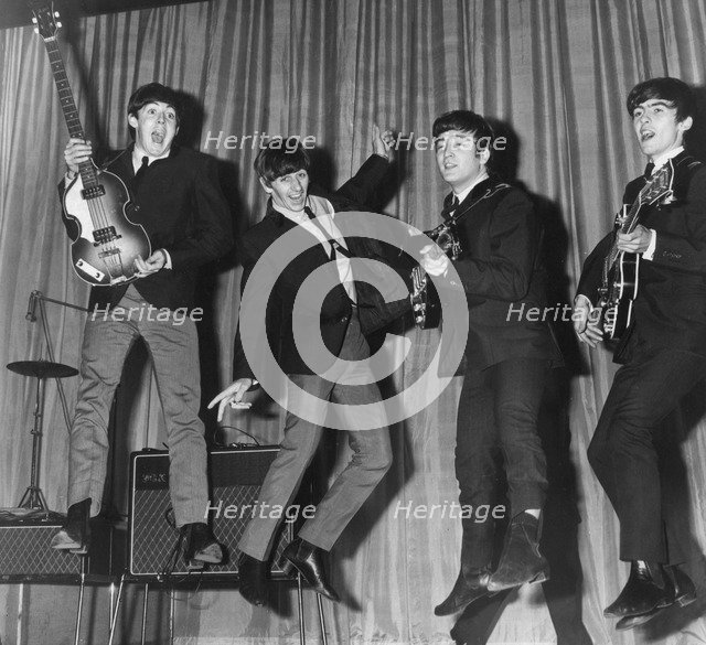 The Beatles playing around during rehearsals before the Royal Command Variety Performance, 1963. Artist: Unknown