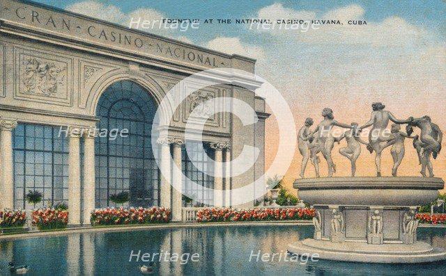'Fountain at the National Casino, Havana, Cuba', c1910. Artist: Unknown.