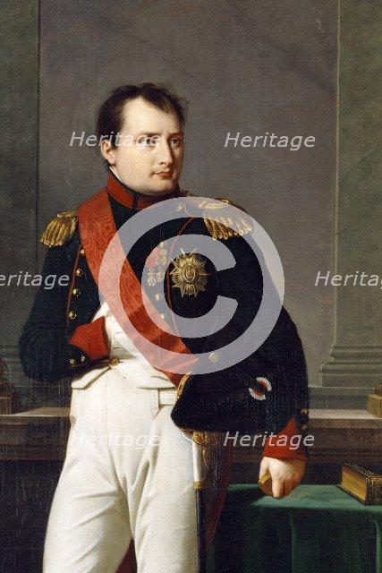 Detail of a portrait of Napoleon Bonaparte, 1812. Artist: Robert Lefevre.