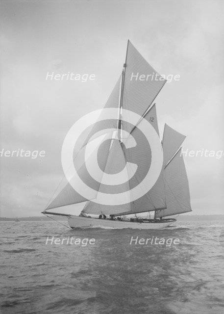 The 96 ft ketch 'Julnar', 1911. Creator: Kirk & Sons of Cowes.