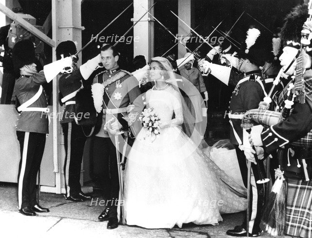 The wedding of the Duke and Duchess of Kent, York Minster, 1961. Artist: Unknown
