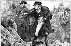 Thumbnail image of George Washington at the siege of Yorktown, Virginia, 1781 (c1880). Artist: Unknown