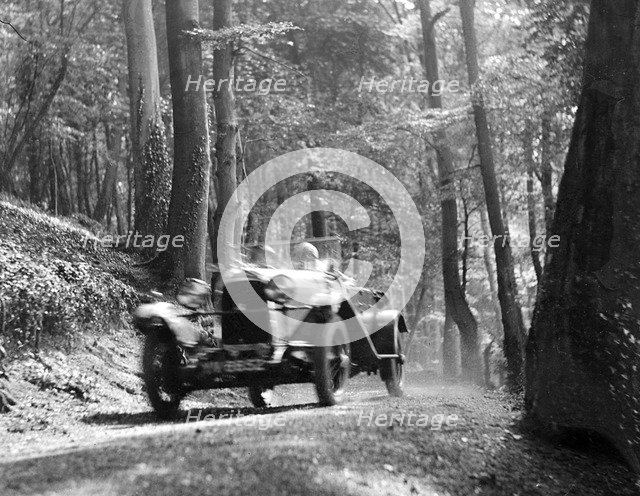 Open high chassis Lagonda taking part in the North West London Motor Club Trial, 1 June 1929. Artist: Bill Brunell.