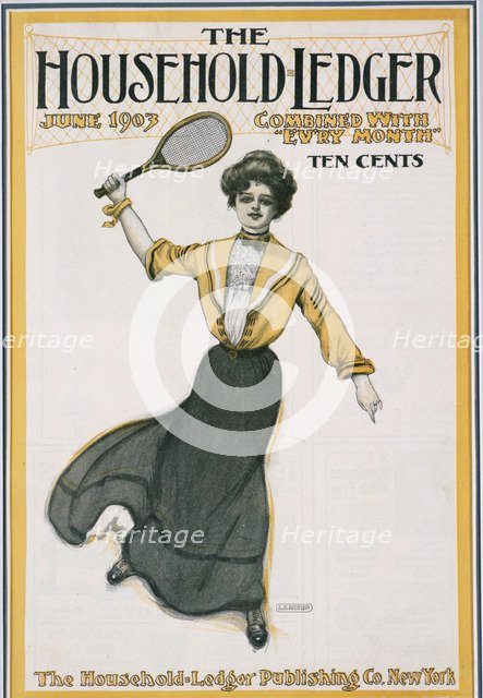 Cover of The Household Ledger magazine, American, June 1903. Artist: Unknown