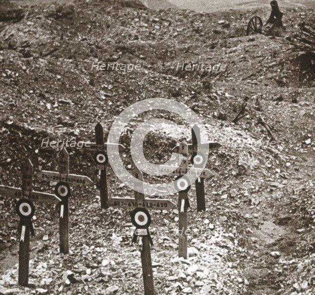 Destroyed battery, Fort Vaux, northern France, c1914-c1918. Artist: Unknown.