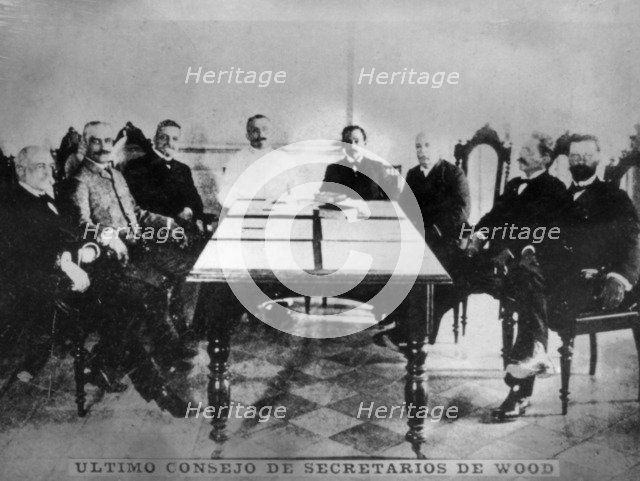 Last  council of  Wood's secretaries, (1902), 1920s. Artist: Unknown