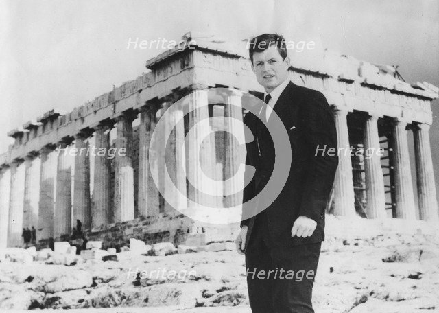 Senator Edward Kennedy (b1932) in front of the Parthenon, Athens, Greece, c1960s. Artist: Unknown