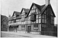 Thumbnail image of William Shakespeare's house, Stratford-upon-Avon, Warwickshire, late 19th century. Artist: John L Stoddard