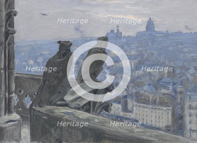 Paris as seen from the towers of Notre Dame, c. 1900. Artist: Moreau-Nélaton, Adolphe Étienne Auguste (1859-1927)