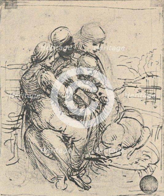 'Virgin and Child with St. Anne', c1480 (1945). Artist: Leonardo da Vinci.