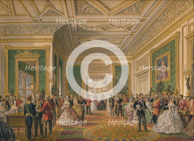 'The Signing of the Marriage Attestation Deed', 1863.  Artist: Robert Dudley.