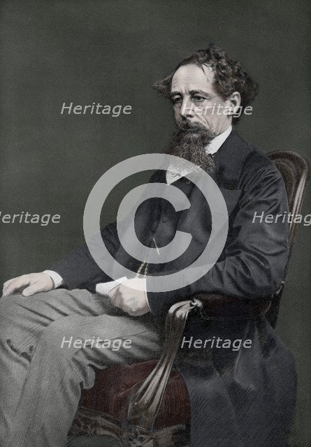 Charles Dickens, 19th century English author, (1910). Artist: Unknown
