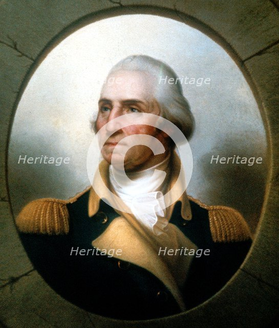 George Washington (1732-99), first President of United States (1789-97).  Artist: Rembrandt Peale