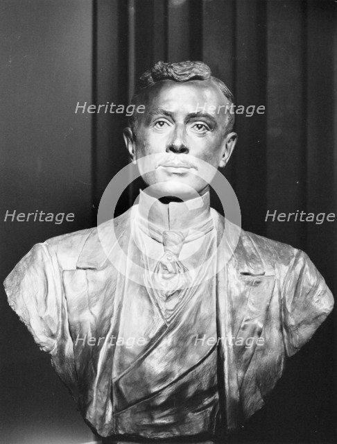 Bronze bust of Charles Rolls. Artist: Unknown
